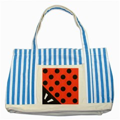 Abstract Bug Cubism Flat Insect Striped Blue Tote Bag