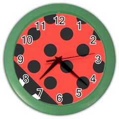 Abstract Bug Cubism Flat Insect Color Wall Clocks