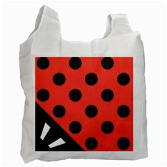 Abstract Bug Cubism Flat Insect Recycle Bag (Two Side)