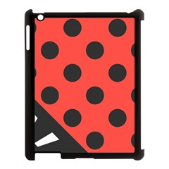 Abstract Bug Cubism Flat Insect Apple iPad 3/4 Case (Black)