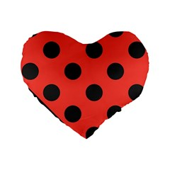 Abstract Bug Cubism Flat Insect Standard 16  Premium Flano Heart Shape Cushions