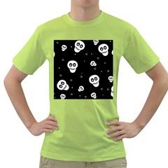 Skull Pattern Green T-Shirt