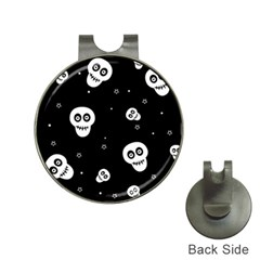 Skull Pattern Hat Clips with Golf Markers