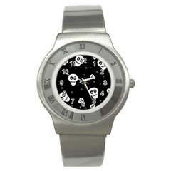 Skull Pattern Stainless Steel Watch