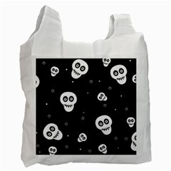 Skull Pattern Recycle Bag (One Side)