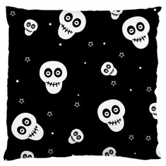 Skull Pattern Large Flano Cushion Case (One Side)