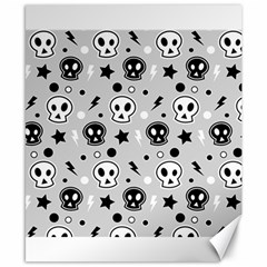 Skull Pattern Canvas 8  x 10