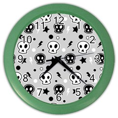 Skull Pattern Color Wall Clocks