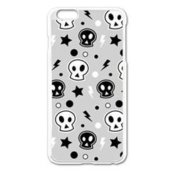 Skull Pattern Apple iPhone 6 Plus/6S Plus Enamel White Case