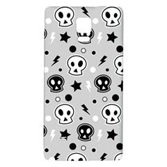 Skull Pattern Galaxy Note 4 Back Case