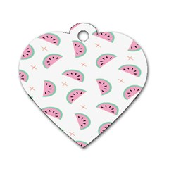 Watermelon Wallpapers  Creative Illustration And Patterns Dog Tag Heart (Two Sides)