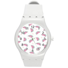 Watermelon Wallpapers  Creative Illustration And Patterns Round Plastic Sport Watch (M)