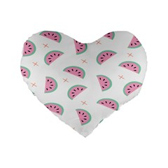 Watermelon Wallpapers  Creative Illustration And Patterns Standard 16  Premium Flano Heart Shape Cushions
