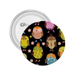 Cute Owls Pattern 2.25  Buttons