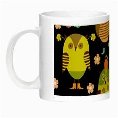 Cute Owls Pattern Night Luminous Mugs