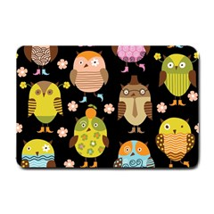 Cute Owls Pattern Small Doormat