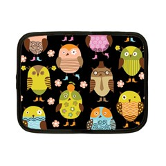 Cute Owls Pattern Netbook Case (Small)