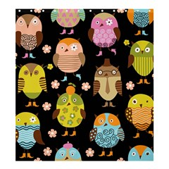 Cute Owls Pattern Shower Curtain 66  x 72  (Large)