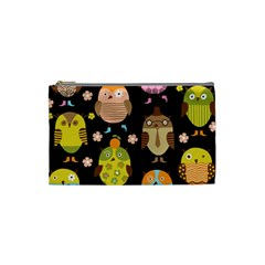 Cute Owls Pattern Cosmetic Bag (Small)