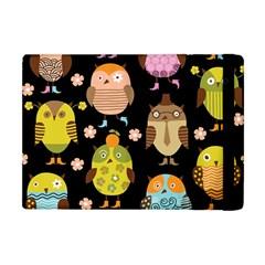 Cute Owls Pattern Apple iPad Mini Flip Case