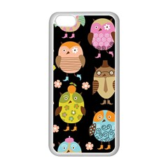 Cute Owls Pattern Apple iPhone 5C Seamless Case (White)