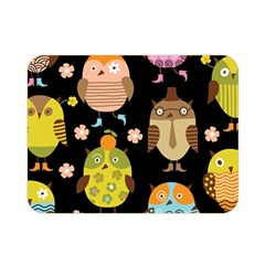 Cute Owls Pattern Double Sided Flano Blanket (Mini)