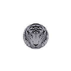 Tiger Head 1  Mini Buttons