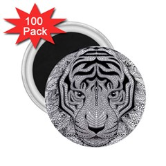 Tiger Head 2.25  Magnets (100 pack)