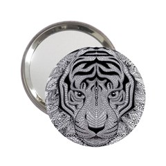 Tiger Head 2.25  Handbag Mirrors