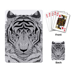 Tiger Head Playing Card