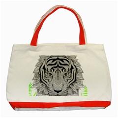 Tiger Head Classic Tote Bag (Red)