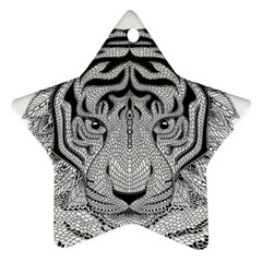 Tiger Head Star Ornament (Two Sides)