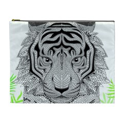 Tiger Head Cosmetic Bag (XL)