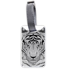 Tiger Head Luggage Tags (One Side)