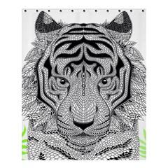 Tiger Head Shower Curtain 60  x 72  (Medium)
