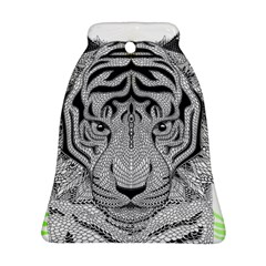 Tiger Head Bell Ornament (Two Sides)