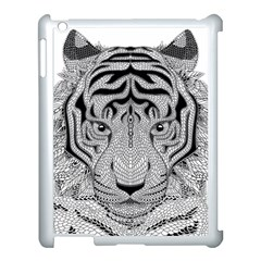 Tiger Head Apple iPad 3/4 Case (White)
