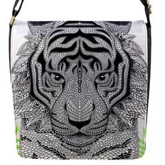 Tiger Head Flap Messenger Bag (S)