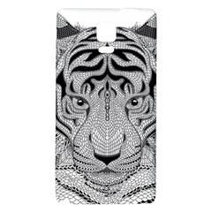 Tiger Head Galaxy Note 4 Back Case
