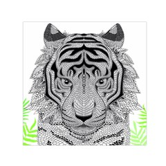 Tiger Head Small Satin Scarf (Square)