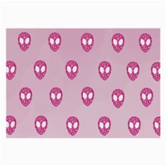 Alien Pattern Pink Large Glasses Cloth