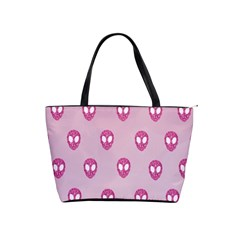 Alien Pattern Pink Shoulder Handbags
