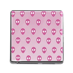 Alien Pattern Pink Memory Card Reader (Square)