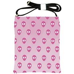 Alien Pattern Pink Shoulder Sling Bags