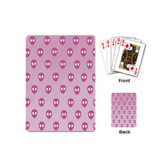 Alien Pattern Pink Playing Cards (Mini)