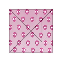 Alien Pattern Pink Acrylic Tangram Puzzle (4  x 4 )