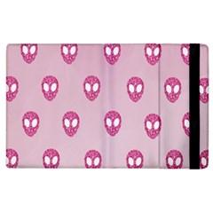 Alien Pattern Pink Apple iPad 3/4 Flip Case
