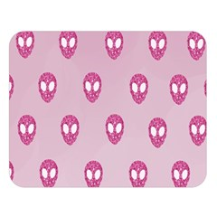 Alien Pattern Pink Double Sided Flano Blanket (Large)
