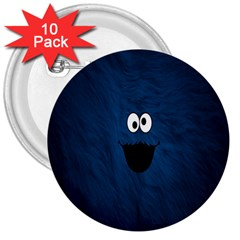 Funny Face 3  Buttons (10 pack)