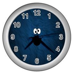 Funny Face Wall Clocks (Silver)